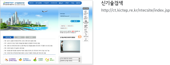 신기술검색 http://ct.kictep.re.kr/ntecsite/index.jsp