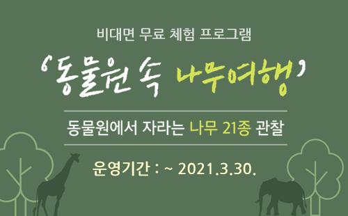서울대공원에서 떠나는 여행 `동물원 속 나무여행`