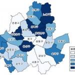 서울시의 지역별 비만율 건강지도