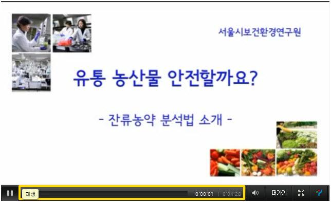 잔류농약검사 분석 동영상