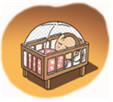 아기침대에 모기장 사용
